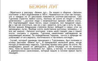 Сочинение по рассказу бежин луг тургенева 6 класс