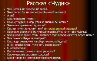 Анализ рассказа шукшина чудик