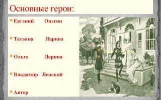Все герои романа евгений онегин пушкина характеристика персонажей