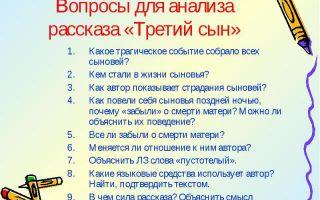 Анализ рассказа платонова третий сын