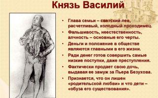 Образ князя василия курагина и его характеристика в романе толстого война и мир