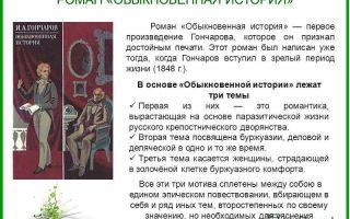 Анализ романа обыкновенная история гончарова сочинение