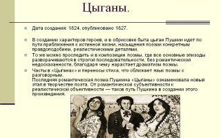 Анализ поэмы пушкина цыганы сочинение 9 класс