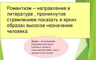 Старуха изергиль литературное направление рассказа горького