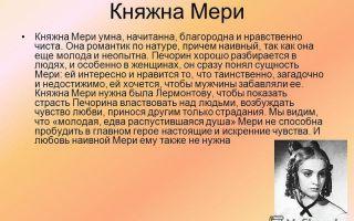 Анализ главы княжна мери (герой нашего времени) сочинение
