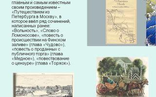 Анализ главы чудово из произведения радищева путешествие из петербурга в москву