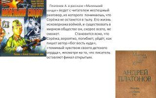 Анализ произведения солдатское сердце платонова