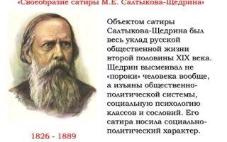 Особенности, своеобразие сатиры салтыкова-щедрина сочинение