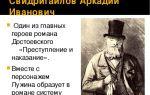Характеристика и образ свидригайлова в романе достоевского преступление и наказание