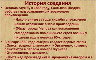 История создания романа история одного города салтыкова-щедрина