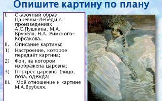 Сочинение сказочный образ царевны-лебедь