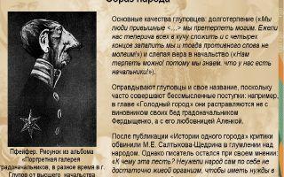 История происхождения глуповцев в истории одного города салтыкова-щедрина