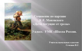 Сочинение по картине маковского от дождя 8 класс (описание) описание