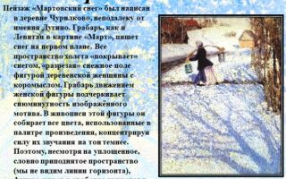 Сочинение по картине мартовский снег грабаря 3 класс описание