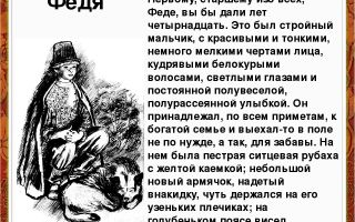 Образ и характеристика феди из рассказа бежин луг тургенева сочинение