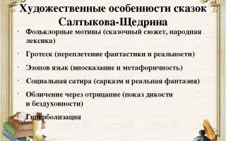 Сочинение особенности сказок салтыкова-щедрина