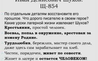 Иван денисович шухов в повести один день ивана денисовича солженицына