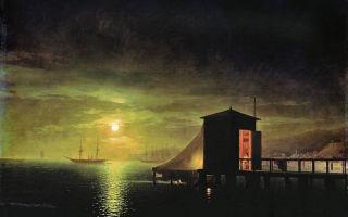 Сочинение по картине айвазовского лунная ночь. купальня в феодосии описание