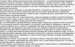 Анализ рассказа аристократка зощенко сочинение