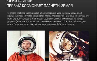Сочинение юрий гагарин первый космонавт