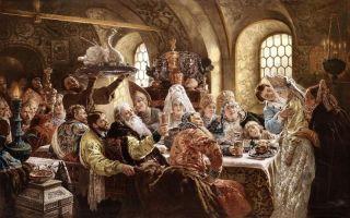 Сочинение по картине маковского боярский свадебный пир xvii века описание