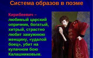 Кирибеевич в поэме песня про царя ивана васильевича характеристика, образ