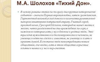 Сочинение по роману шолохова тихий дон рассуждение
