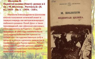 Анализ романа поднятая целина шолохова сочинение