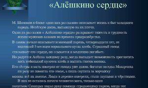 Анализ произведения алешкино сердце шолохова сочинение