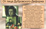 Дефорж в романе дубровский пушкина