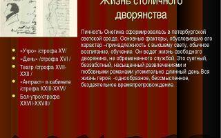 Сочинение столичное и поместное дворянство в евгении онегине пушкина