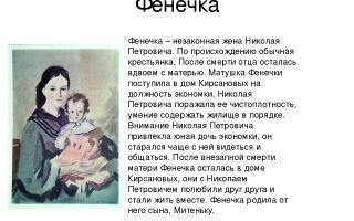 Образ и характеристика фенечки в романе отцы и дети тургенева сочинение