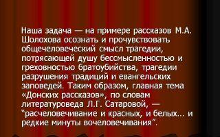 Анализ рассказа шолохова обида