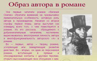 Образ автора в романе евгений онегин пушкина