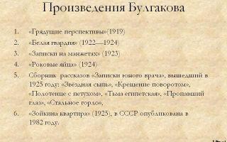 Сочинения по рассказам булгакова