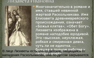 Образ и характеристика лизаветы в романе преступление и наказание достоевского