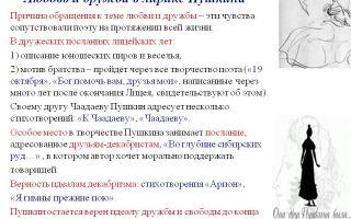 Дружба и друзья в лирике пушкина сочинение, сообщение, доклад 9 класс