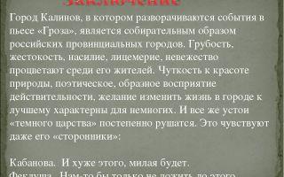 Город калинов и его обитатели в пьесе гроза островского сочинение