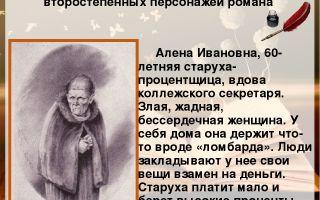 Характеристика и образ старухи-процентщицы (алена ивановна) в романе достоевского преступление и наказание сочинение