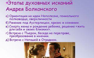 Жизненный путь исканий андрея болконского в романе война и мир сочинение