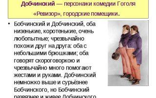 Образ и характеристика бобчинского в комедии ревизор гоголя сочинение