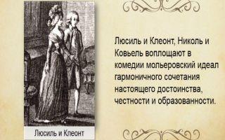 Образ и характеристика люсиль мещанин во дворянстве мольера сочинение