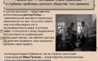 Сочинение образ рагина в повести палата номер 6 чехова