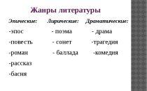 Эпические жанры литературы (определения, примеры)