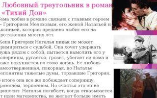 Сочинение любовь в романе тихий дон шолохова