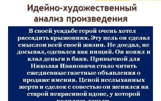 Анализ рассказа крыжовник (произведение чехова)