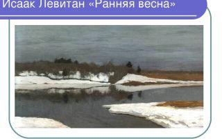 Сочинение по картине левитана ранняя весна 2 класс описание описание