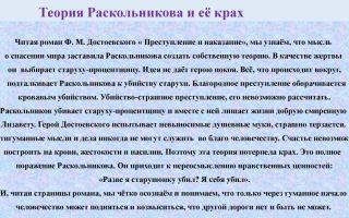 Теория раскольникова и её крах в романе достоевского преступление и наказание сочинение