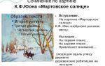 Сочинение по картине виноградова весна 5 класс описание